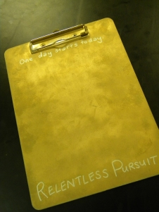 Sutton's Gold, Relentless Pursuit Clipboard